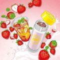 「Lipton TEA STAND」限定新メニュー「Fruits in Tea いちご」イメージイラスト